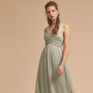 BHLDN Angie Dress in Sage Size Small